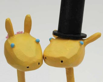 Giraffe Wedding Cake Toppers | Bride and Groom Giraffes | Gay and Lesbian Wedding Cake Toppers