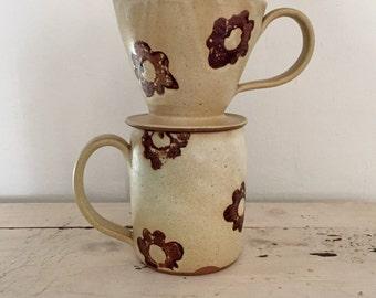 Coffee pour over filter holder and mug set