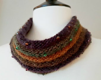 Crystal Cowl Knitting Kit (yarn) - WOODLAND