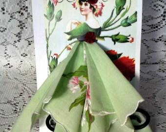 Poppy Flower Fairy Hanky Card