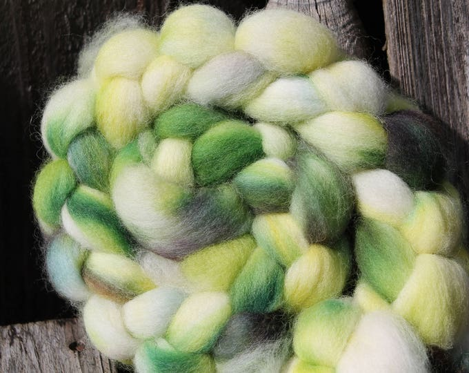Kettle Dyed Cheviot Wool Top.  Easy to spin. 4oz  Braid. Spin. Felt. Roving. C105