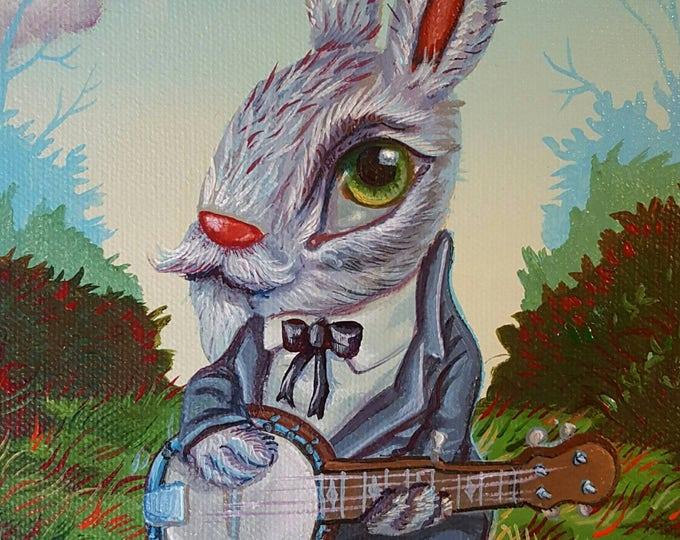 Banjo Bunny - Original painting by Mr Hooper of Nashville Tennessee