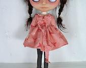 Blythe Doll Dress,  Blythe Dress. Long Sleeves, Eiffel tower, hearts