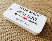 Handmade with Love Tags, Product Tags, Personalized Tags,Product Tags, Gift Tags, Personalized, Custom Tags - Set of 20