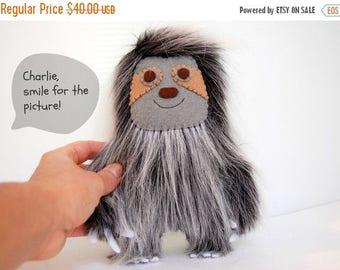 35% SALE Charlie The Sloth Plush / Eco Friendly Stuffed Toy