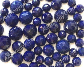 Gemstone Cabochon Lapis 10mm Rose Cut FOR ONE