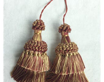 Gold Amber Red Decorative Tassels