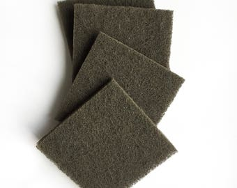 Satin Finish Metal Buffing Ultra Fine Silicon Carbide 3x3 150 Grit Finishing Hand Pad Restores Satin Finish to Metal Jewelry
