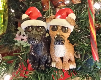 Custom Pet Portrait Double Ornament