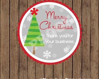 MERRY Christmas Sticker / Christmas Sticker / Christmas Tree Sticker / Merry Christmas Favor Tag / Christmas Favor Tag / Christmas Gift Tag