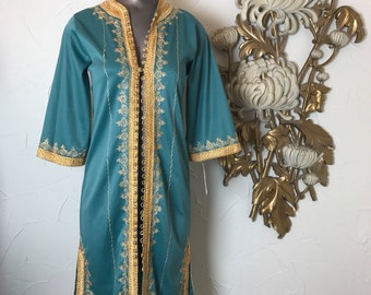 70s tunic ethnic tunic 1970s dress embroidered dress ethnic coat size medium Vintage 70s dress