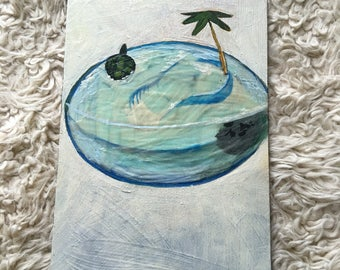 Turtle habitat painting