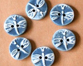 Set of 6 dragonfly buttons