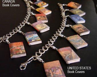 Shop CLOSING- Harry Potter Mini Book Charm bracelet  (etsy)-UK or USA version