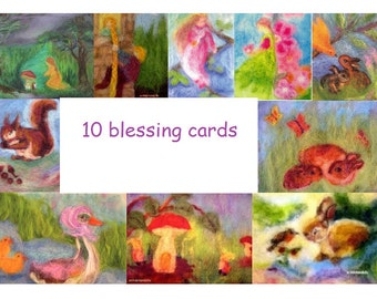 10 Blessing cards of my art work, Waldorf arts, Waldorf education