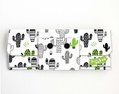 Vinyl Long Wallet - Cactus / cacti, vegan, pretty, large wallet, clutch, card case, vinyl wallet, handmade, plants, green, succulents