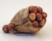 12th scale handmade miniature sack of swedes/turnips.