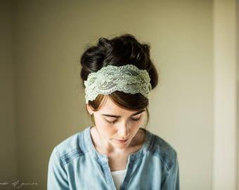 FERN Coffee Shop Stretch Lace Headwrap || Garlands of Grace headband headcovering