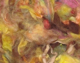 Alpaca fibre, Hand dyed, Fruit Salad, 1 ounces