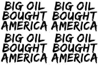 instant download postcard Big Oil bought America political postcard protest resist