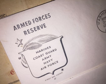 1955 Armed Forces First Day Cover Envelope