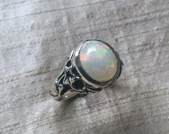 Opal and Sterling Silve The Ivy Ring