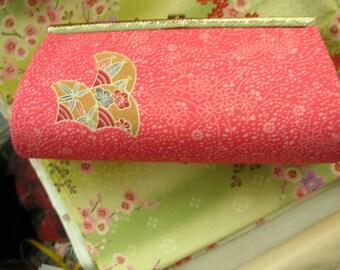 Vintage Kimono Bag - Printed Floral in Orange Faille Silk