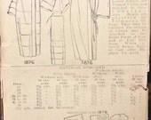 Pictorial Review Pattern 1876 Ladies Coat Size 40