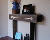 Small Console Table. Glamping. Tiny Home Table. Arrow Adventure Awaits.  Skinny Console. Camper Furniture.  Retro Camp House Decor. Arrows