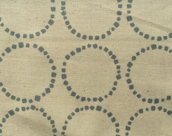 Stone Circle in ivory and gray Japanese cotton fabric