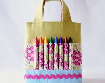 Crayon Tote • Crayon Bag • Coloring Bag • Art Tote • Crayon Holder • Crayon Roll • Flower Girl • Busy Bag • ARTOTE MINI • Bloomsberry