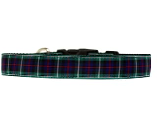 Holiday Collar 1 Inch Wide Dog Collar with Adjustable Buckle or Martingale in MacKenzie