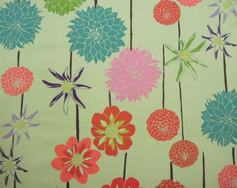 Fabric - Full Bloom, Cotton, Colourful Flowers, Sewing, Home Decor, 6 yds