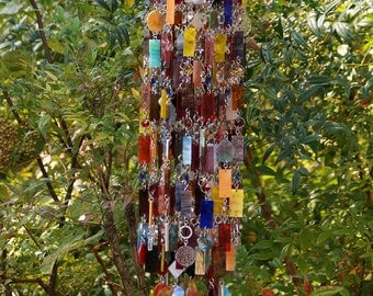 MissFit - Unique Wind Chimes - Suncatcher - OOAK Gift For Her, Anniversary, Birthday, Wedding, Housewarming