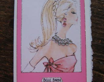 "Vintage ""Belle Barbi"" note card"