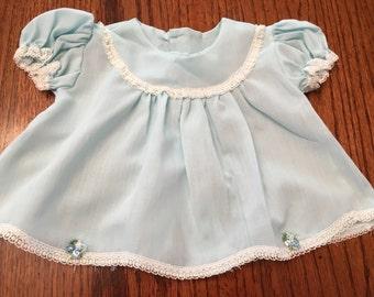 Alice Blue Dress 0/3 Months
