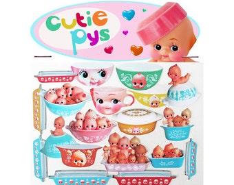 kewpie pyrex stickers cute big eye dolly baby boopsiedaisy sticky poos