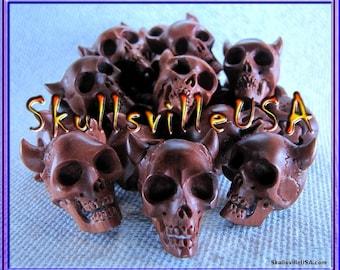 Beelzebub Sabo Wood Skull Beads