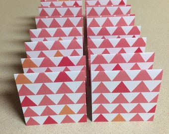Mini Cards 16 Triangles - blank for thank you notes 3 x 3