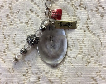 MOM stamped spoon necklace, silverware jewelry