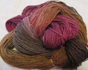 Hand painted Cotton Boucle Yarn - 315 yds.  FIGI