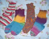 3 pairs of socks size 11 in Drops Fabel yarn