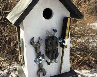 Primitive Birdhouse Tools Handyman Unique OOAK
