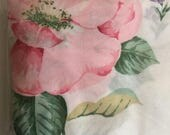 Vintage Pillow Cases Pink Flower Bright Spray Foxgloves Rose Cottage Garden Set of Two Original Packaging Standard Size 180 Thread Count