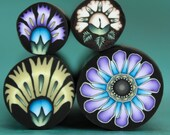 Set of 4 Polymer Clay Flower Canes -'Oma's Garden' series (4aa)
