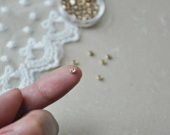 "12pcs+ 3mm/0.125"" Tiny Gold buttons for SD Dolls clothes/ Scale Dolls clothes / mini buttons for doll clothes"