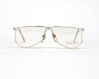 Vintage YABI SPIRIT Duschan eyewear, bi-color eyeglasses, 80s eyeglass frame in unused condition