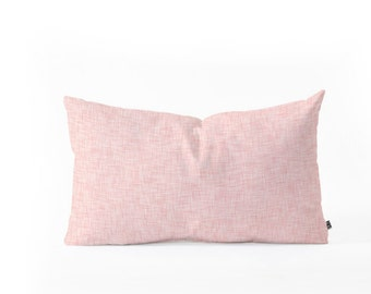 Linen Marsala Rosee Oblong Pillow