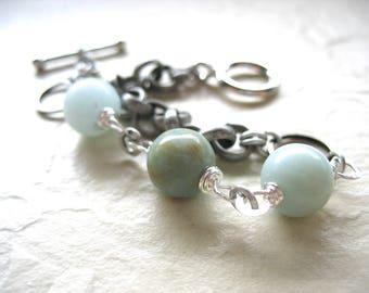 Amazonite Bracelet, Amazonite Jewelry,Amazonite, Blue Bracelet, Gemstone Jewelry, Amazonite