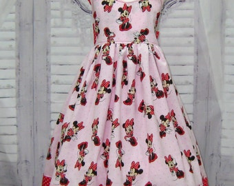 Minnie Mouse Inspired Dress, Red and Pink Girl Dress, Red Polka Dots Dress, Pink Girl Dress, Red Girl Dress, Birthday Dress, Toddler Dress